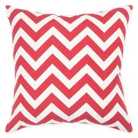 Rizzy Home Chevron Square Throw Pillow in Red/White