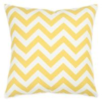 Rizzy Home Chevron Square Throw Pillow in Yellow