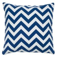 Rizzy Home Chevron Square Throw Pillow in Navy