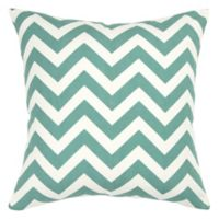 Rizzy Home Chevron Square Throw Pillow in Teal