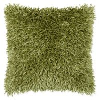 Rizzy Home String Shag Square Throw Pillow in Lime Green