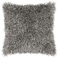 Rizzy Home String Shag Square Throw Pillow in Grey