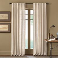Cambria® Malta 120-Inch Rod Pocket/Back Tab Window Curtain Panel in Parchment