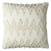 Rizzy Home Frayed Chevron Square Indoor/Outdoor Throw Pillow in Natural