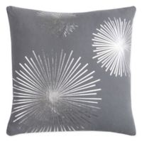 Rizzy Star Burst Square Indoor/Outdoor Throw Pillow in Grey/Silver