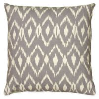Rizzy Home Ikat Square Throw Pillow in Grey/Cream