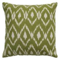 Rizzy Home Ikat Square Throw Pillow in Beige/Green