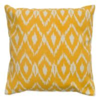 Rizzy Home Ikat Square Throw Pillow in Beige/Yellow