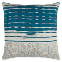 Rizzy Home Abstract Stripe Square Throw Pillow in Teal