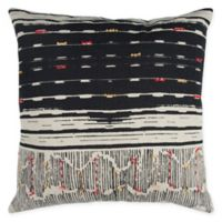 Rizzy Home Abstract Stripe Square Throw Pillow in Black