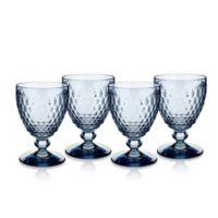Villeroy & Boch® Boston 11 oz. Wine Goblets in Blue (Set of 4)