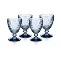 Villeroy & Boch® Boston 14 oz. Wine Goblets in Blue (Set of 4)