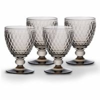 Villeroy & Boch® Boston 14 oz. Wine Goblets in Smoke (Set of 4)