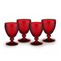 Villeroy & Boch® Boston 14 oz. Wine Goblets in Red (Set of 4)