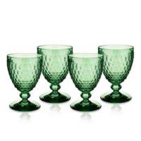 Villeroy & Boch® Boston 14 oz. Wine Goblets in Green (Set of 4)