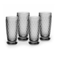 Villeroy & Boch® Boston 13.5 oz. Highball Glasses in Smoke (Set of 4)