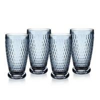 Villeroy & Boch® Boston 13.5 oz. Highball Glasses in Blue (Set of 4)