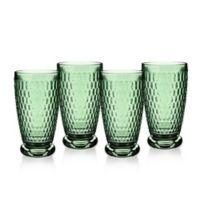 Villeroy & Boch® Boston 13.5 oz. Highball Glasses in Green (Set of 4)