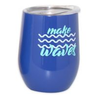 Double Wall Stainless Steel Summer Wine Tumbler in Navy