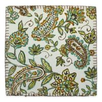 Paisley Print Canvas Placemat in Green