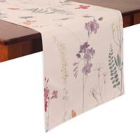 Floral Sketch 70-Inch Table Runner in Natural