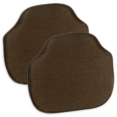 Charmant Gripper® Windsor Chair Cushions In Chestnut (Set Of 2)