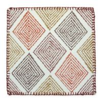 Stitched Diamonds Canvas Placemat in Brick