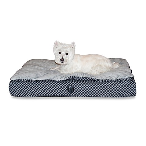 K & H™ Small Feather Top Ortho Bed™ in Grey