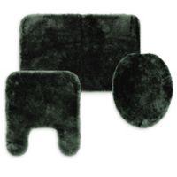 Wamsutta® Duet 3-Piece Bath Rug Set in Pewter