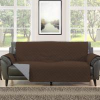 Morgan Home Barrett Micro-Fiber Reversible Sofa Slipcover in Brown/Grey