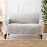 Sofa Saver Velvet Loveseat Cover in Grey
