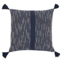 KAF Home Striped Tassel Square Throw Pillow in Indigo