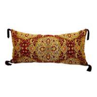 Bergamo Oblong Throw Pillow in Red