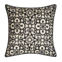 New York Botanical Garden® Global Appliqué Square Throw Pillow in Black