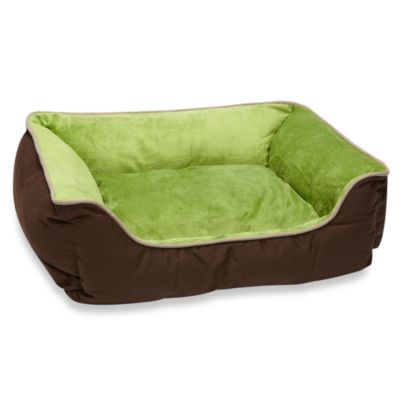 ku0026h small selfwarming pet lounge sleeper in mochagreen - Heated Dog Bed