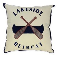 Lakeside Retreat Square Throw Pillow in Natural
