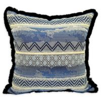 Jakobe Square Throw Pillow in Indigo