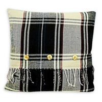 Conway Plaid Square Throw Pillow in Brown