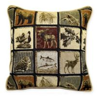 Northwestern Bluehill Square Multicolored Throw Pillow