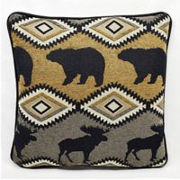 Gatlinburg Square Throw Pillow in Mineral