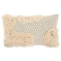 Studio NYC Sequins Fringe Oblong Throw Pillow in Fossil