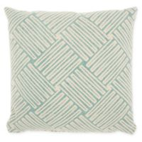 Studio NYC Design Basketweave 20-Inch Square Throw Pillow in Mineral