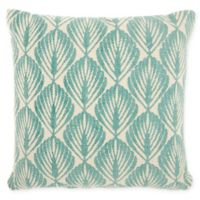 Studio NYC Design Leaves 20-Inch Square Throw Pillow in Mineral