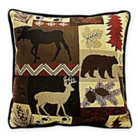 Adirondack Square Throw Pillow in Brown