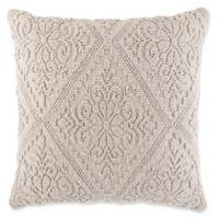 Tile Rug Square Throw Pillow in Taupe