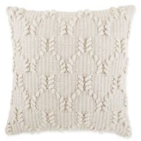Asher Wishbone Square Throw Pillow in Natural
