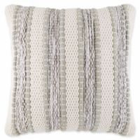 Chenille Stripe Square Throw Pillow in Sage
