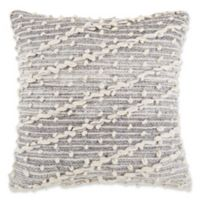 Diagonal Nubby Square Throw Pillow in Charcoal