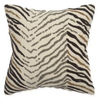 Rizzy Home Zebra Square Throw Pillow in Ivory/Black