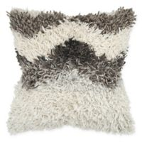 Rizzy Home Chevron Shag Square Throw Pillow in Natural